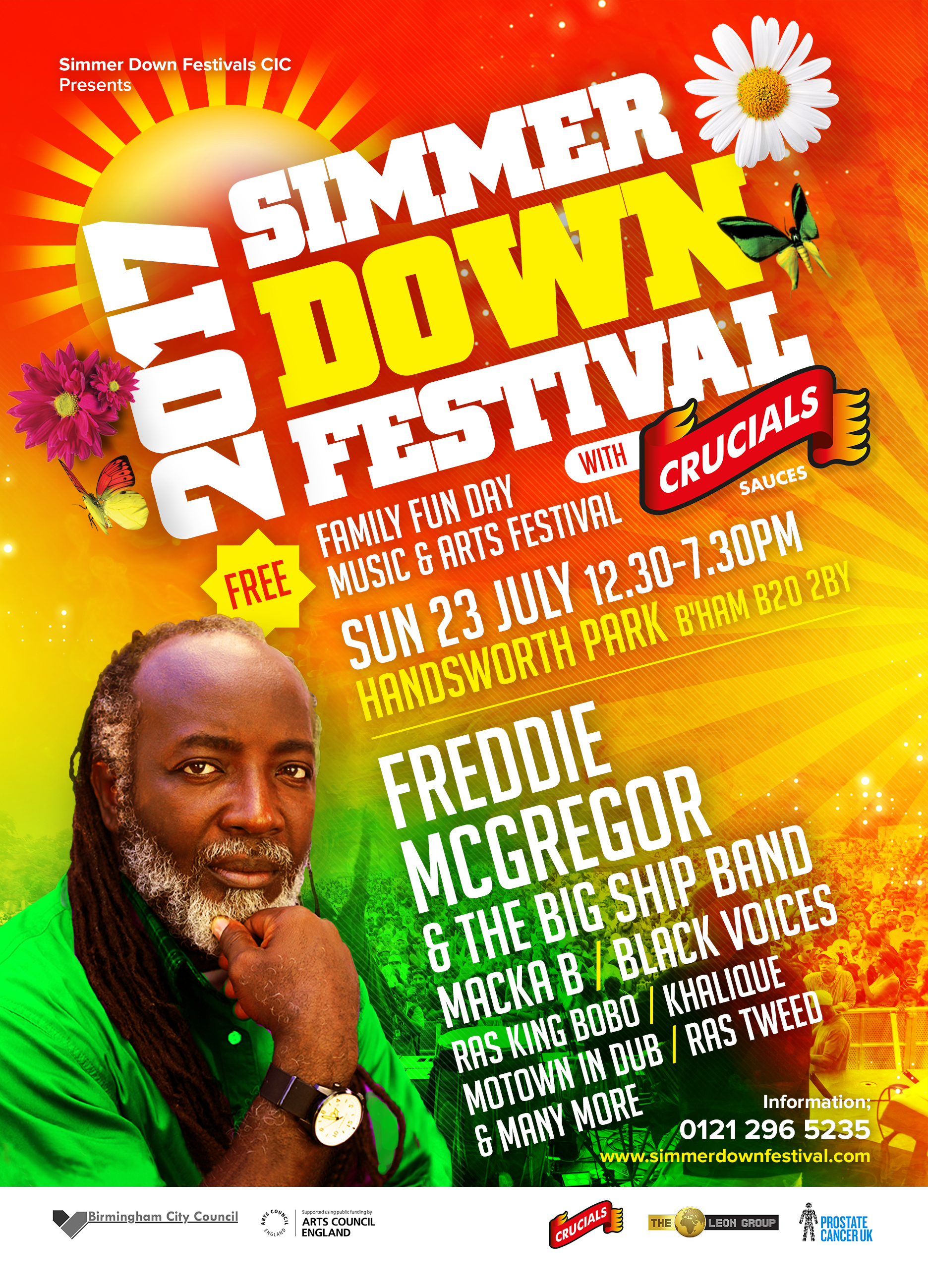 Simmer Down Festival - 23rd July Handsworth Park