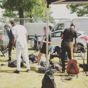 Backstage at Simmer Down Festival 2017