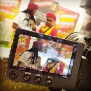 Media Team working hard at Simmer Down Festival 2017